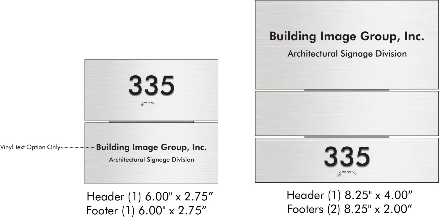 Plan Sign Multi Panel ADA