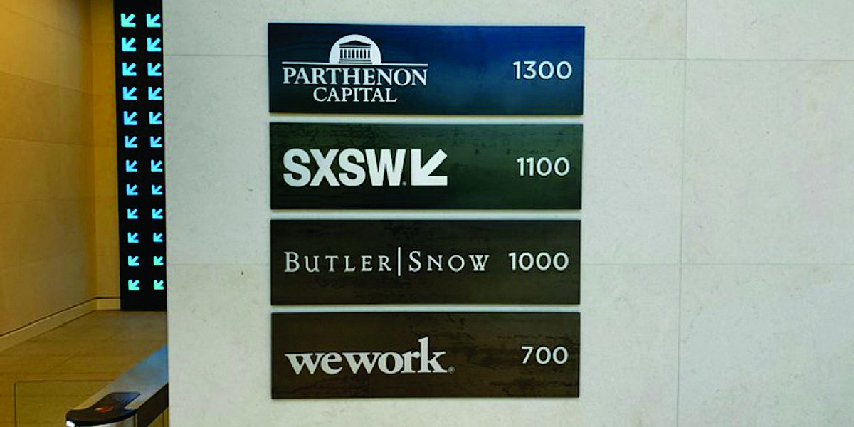 Interior Custom Sign Directories 102
